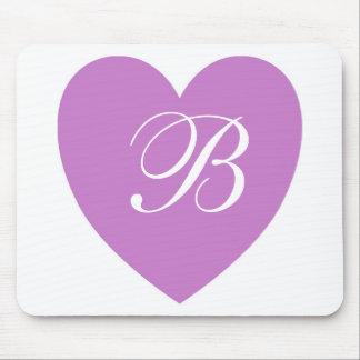 Purple Heart Monogram Mousepad