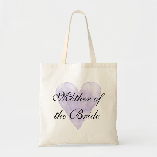 Purple Heart Mother Of The Bride Wedding Tote Bag