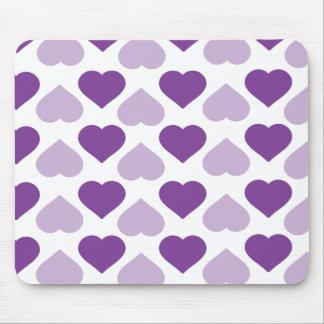 Purple heart mouse pad