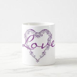 Purple Heart Basic White Mug