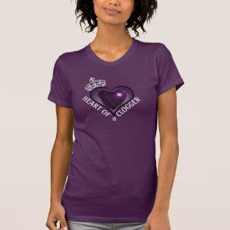Purple Heart of a Clogger Dancer T-Shirt