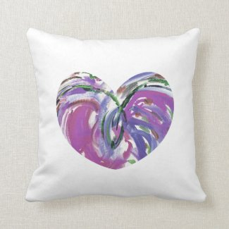 Purple Heart of Joy Pillow