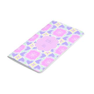 purple heart pattern personalizable journal