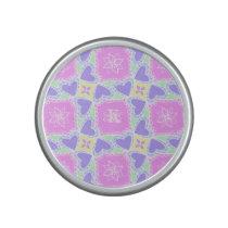purple heart pattern personalizable speaker