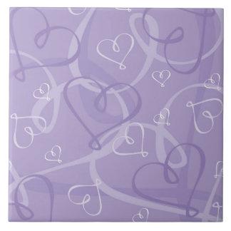 Purple heart pattern tile