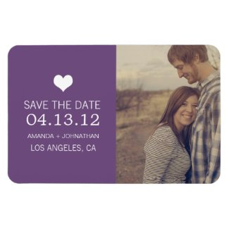 Purple Heart Photo Save The Date Magnet