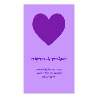 Purple Heart Profile Card Business Card