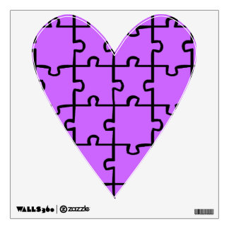Purple Heart Puzzle Pieces Wall Decals