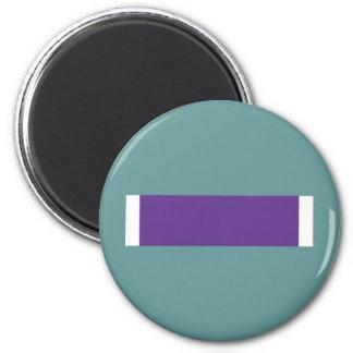 Purple Heart Ribbon 2 Inch Round Magnet