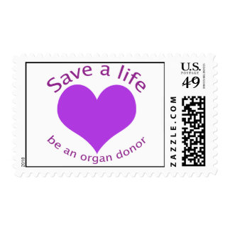 Purple heart save a life organ donation postage