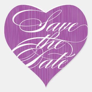 Purple Heart  |  Save the Date Envelope Seal Heart Sticker