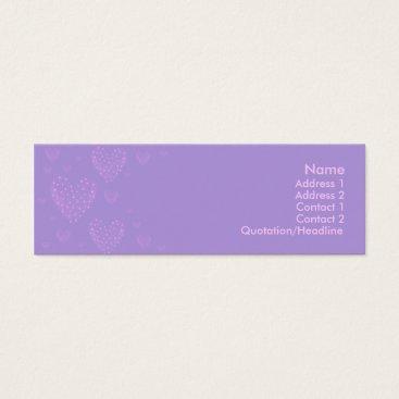 Professional Business Purple heart Skinny Card 2