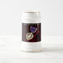 Purple Heart Stine , Personalized Beer Stein