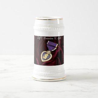 Purple Heart Stine , Personalized Beer Stein