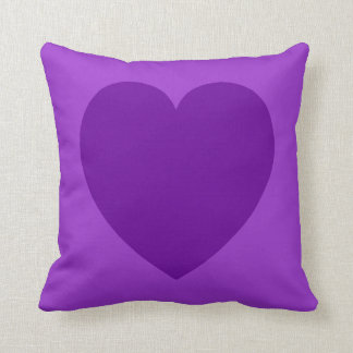Purple Heart Symbol Pillow