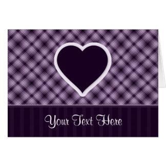 Purple Heart Tarjeta De Felicitación