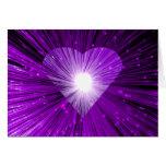 """Purple Heart tarjeta de felicitaciones de """"su text"""
