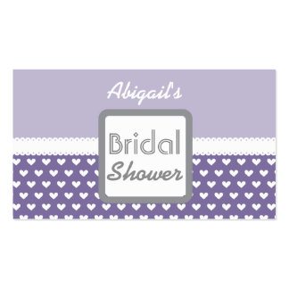 Purple Heart Theme Bridal Shower A01A Double-Sided Standard Business Cards (Pack Of 100)