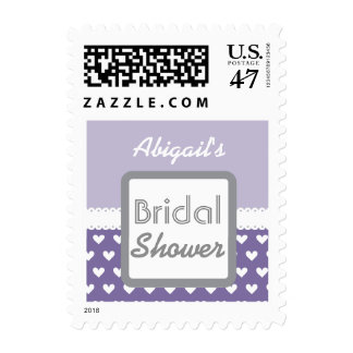Purple Heart Theme Bridal Shower A01A Postage