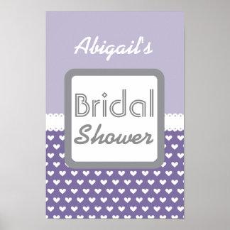 Purple Heart Theme Bridal Shower A01A Poster