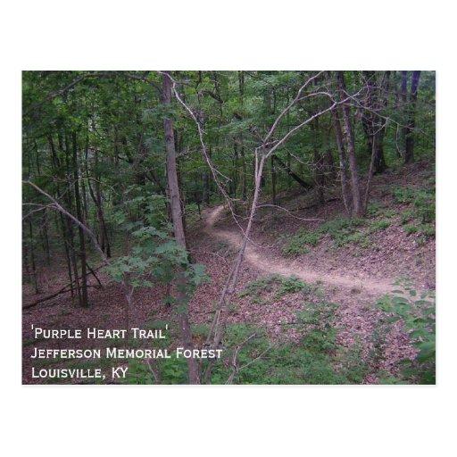 'Purple Heart Trail Tarjeta Postal