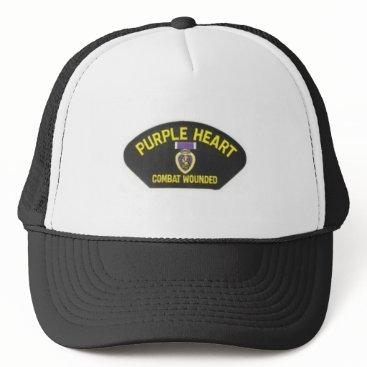 Valentines Themed Purple Heart Trucker Hat
