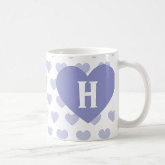 Purple Heart violeta grande - monograma Taza