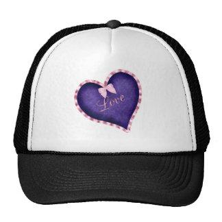 Purple Heart with Love Mesh Hats