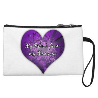 Purple Heart Younique makeup bag