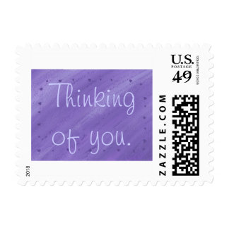 Purple Hearts Blended Thinking of you Stamps