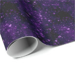 Purple Hearts Love Wrapping Paper
