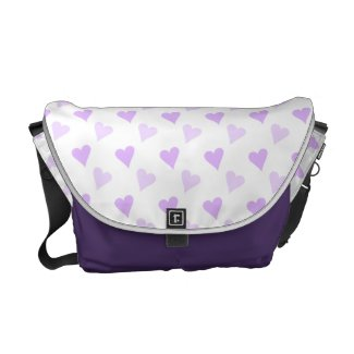 Purple Hearts Messenger Bag rickshawmessengerbag