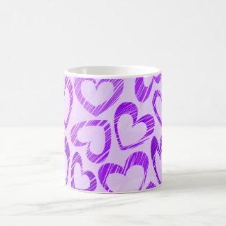 Purple hearts mug