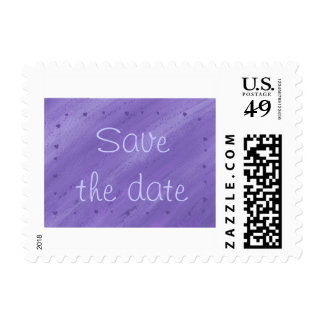 Purple Hearts on Blended Purple Save Date Stamps