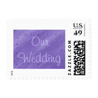 Purple Hearts on Blended Purple Wedding Stamps