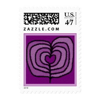 Purple Hearts Postage
