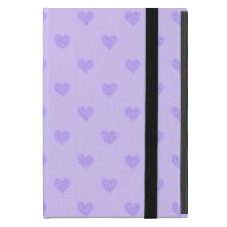 Purple  Hearts :Powis iCase iPad Mini Case