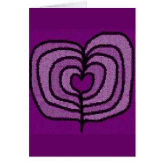 Purple Hearts Valentine's Day Card