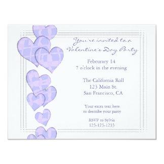 Purple Hearts Valentine's Day Invitation