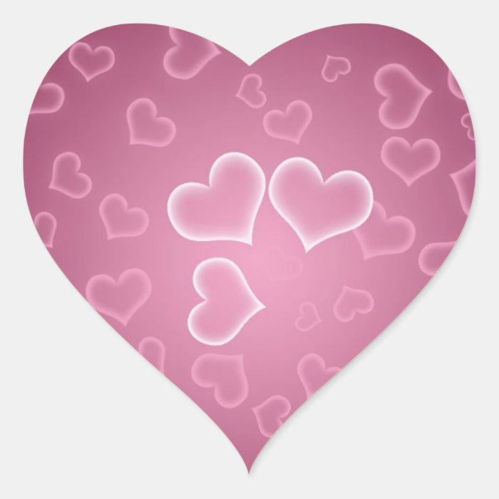Purple Hearts Valentine's Day Stickers