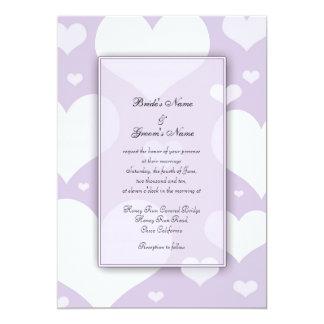 Purple Hearts Wedding Invitations
