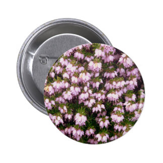 Purple Heather Flowers Button
