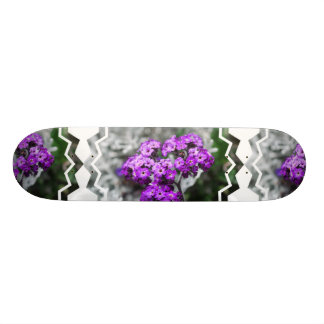 Purple Heliotrope Flowers Skateboard