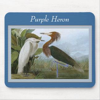 Purple Heron Mousepad