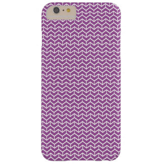 Purple Herringbone Bricks Barely There iPhone 6 Plus Case