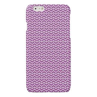 Purple Herringbone Bricks Glossy iPhone 6 Case