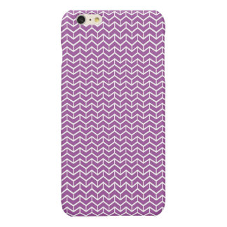 Purple Herringbone Bricks Glossy iPhone 6 Plus Case
