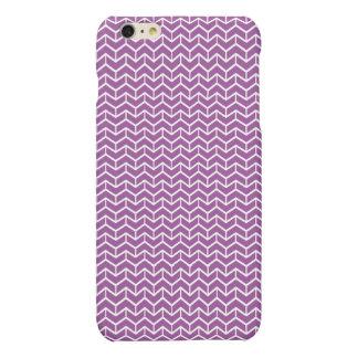 Purple Herringbone Bricks Matte iPhone 6 Plus Case