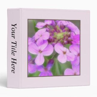 Purple Hesperis matronalis Flowers Binder