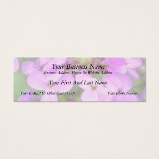 Purple Hesperis matronalis Flowers Mini Business Card